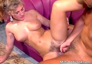 pretty milf chick receives her hairy twat
