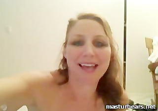 riding vibrator with my unshaved pussy on a mirror