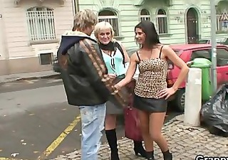 old prostitute takes it from behind