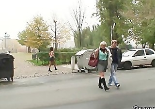 old prostitute is picked up and fucked by fellow