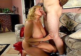 Stiff young boner bashing enormous tits naughty