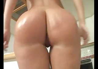Hot brunette MILF with a sexy ass eats his long